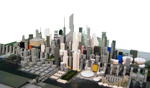 Futuristic City Lego Microscale Experiment
