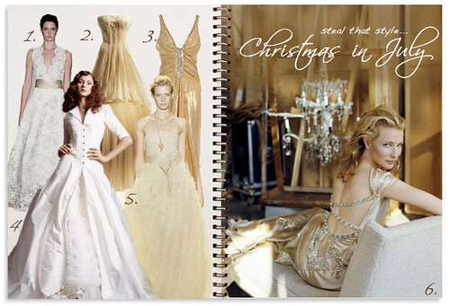 A Christmas in July themed wedding is time to sparkle and shine in champagne