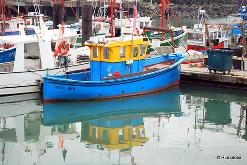Puerto de San Juan de Luz, Francia by Rufino Lasaosa
