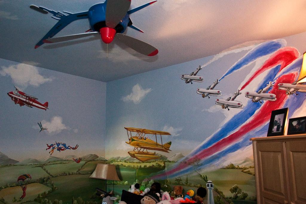 Airplane decor kids room kids room airplane decor kids for Airplane propellers for decoration
