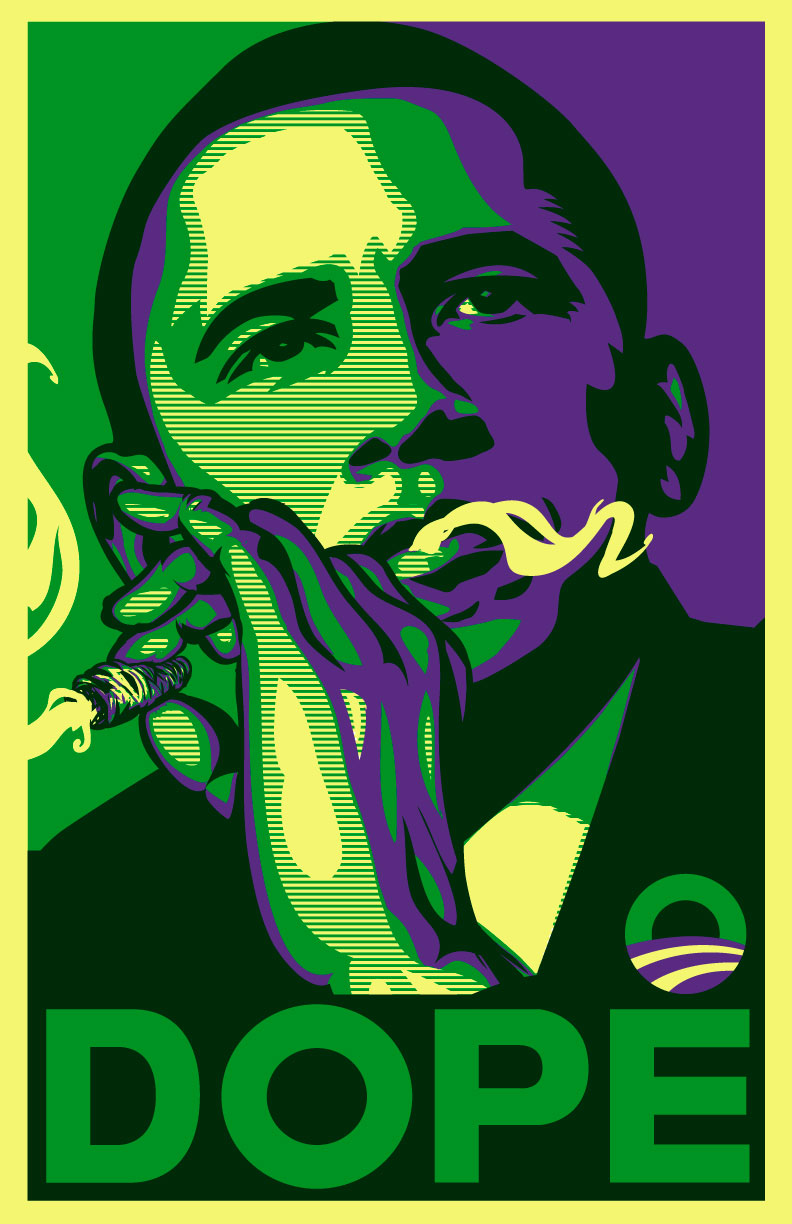 Cartoon Characters Smoking Weed : Obama dope green variant a photo on flickriver