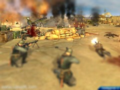 infantry(0.0), screenshot(0.0), violence(1.0), army men(1.0), war(1.0), pc game(1.0), battle(1.0),