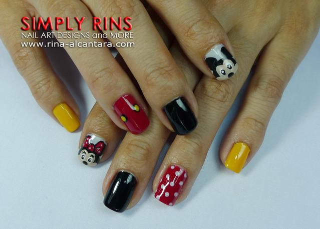 Nail Art Mickey Mouse 03 | Flickr - Photo Sharing!