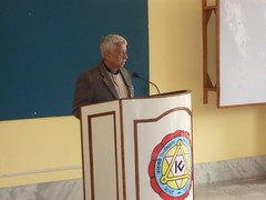 Naresh Koirala of NLF addressing Mgmt. Workshop with Kathmandu University