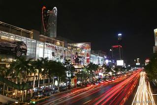 Bangkok - Traffic along Ratchadamri Road