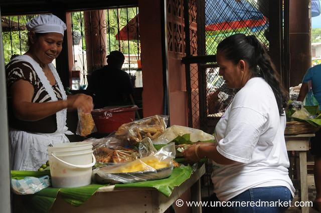 Fried Food in a Bag - Masaya, Nicaragua
