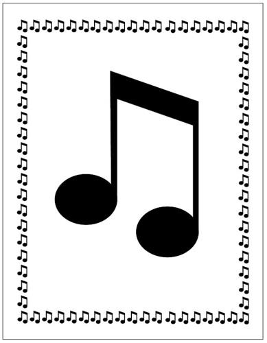 Free Music Note Border