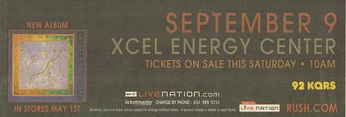 09/09/07 Rush @ St. Paul, MN (Ad - Bottom)