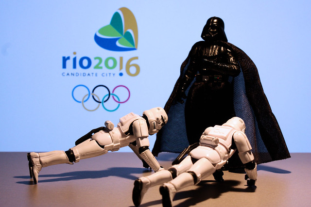 "Vader says: ""2016 push-ups for Rio 2016"""