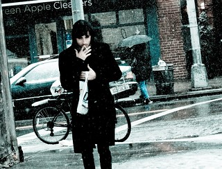 "IT SNOWS IN NY (2 of 3): ""Cigarette in the cold"""