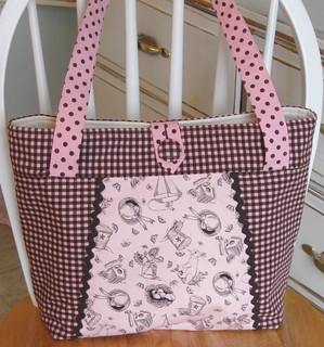BUNNY TOILE~Checks~Polka Dots~Chocolate~Pink