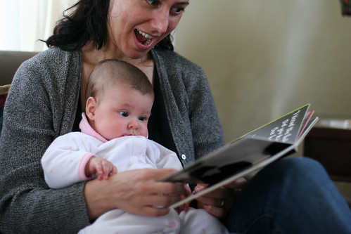 Mom reading to Isabelle