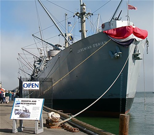 We sailed on this WWII vet ship, the S.S. Jeremiah O'Brien, to see the old Kaiser Shipyards.