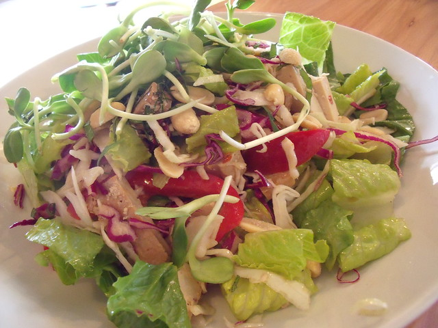 Napa cabbage salad with baked Tofu from Plant Cafe | Flickr - Photo ...