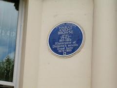 Photo of Hablot Knight Browne blue plaque