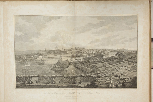 027 - Plate 2 View of the Cove and Part of Sydney from Captain James Wallis - Historical Account (1821)