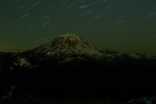 Mt Rainier in the Dark