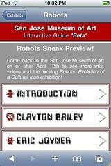 Robot artist list page