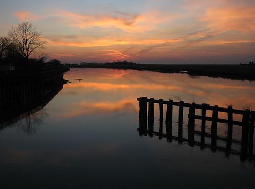 sunset shadow silhouette nj hancocksbridge salemcounty downjersey lowerallowayscreek