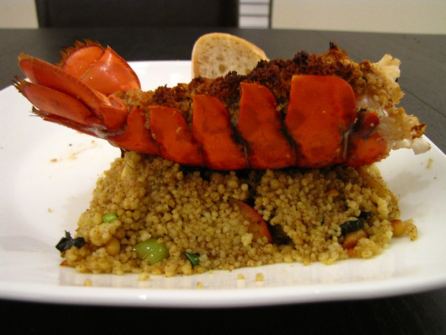 Dinner: Curried Apple Couscous and Lobster Tails | Flickr - Photo ...