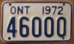 1972 Ontario Motorcycle Plate