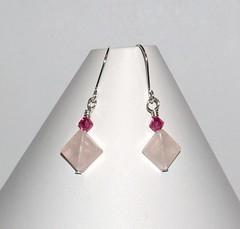 Rose quartz dangles