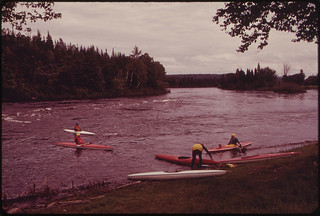 Launching Kayaks Into the Androscoggin River ... 06/1973