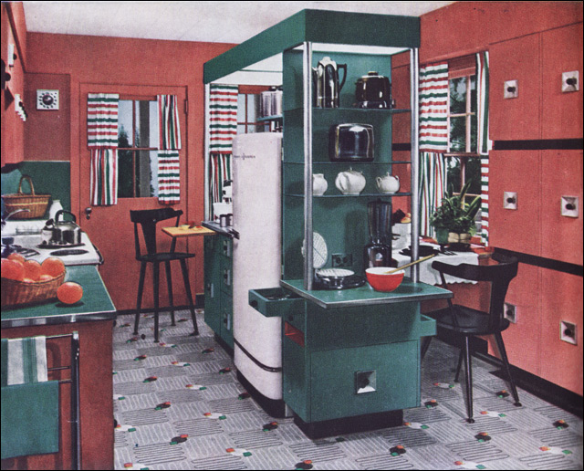 1950 Armstrong Mid Century Modern Kitchen This Is A Cool