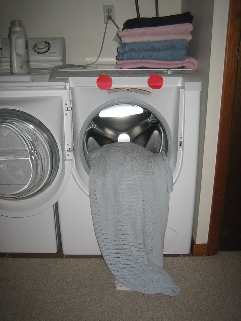 The washing machine is very sick