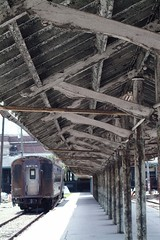Tampa Florida Union Station with historic Pullman Car
