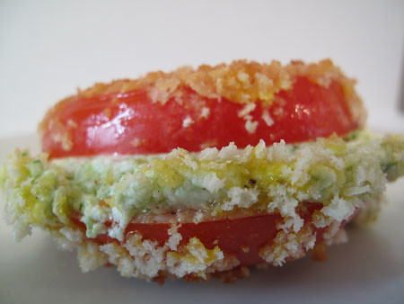 Fried Tomato Sandwich with Pesto and Goat Cheese 3