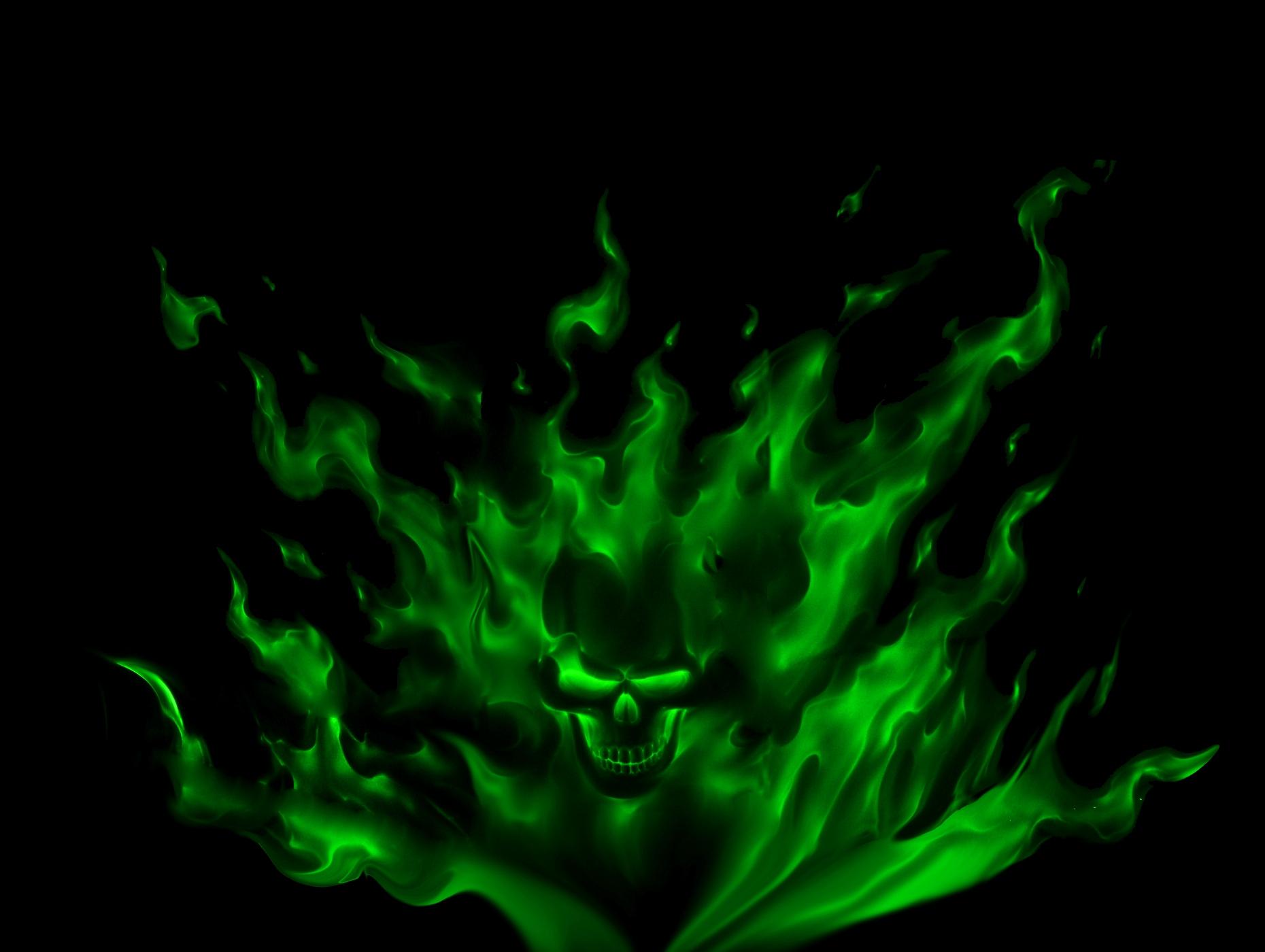 Green Flame Skull | Flickr - Photo Sharing!