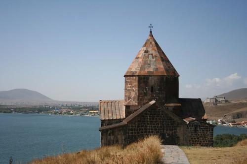 Caminho Lago Sevan, fronteira Nagorno Karabakh, Arménia
