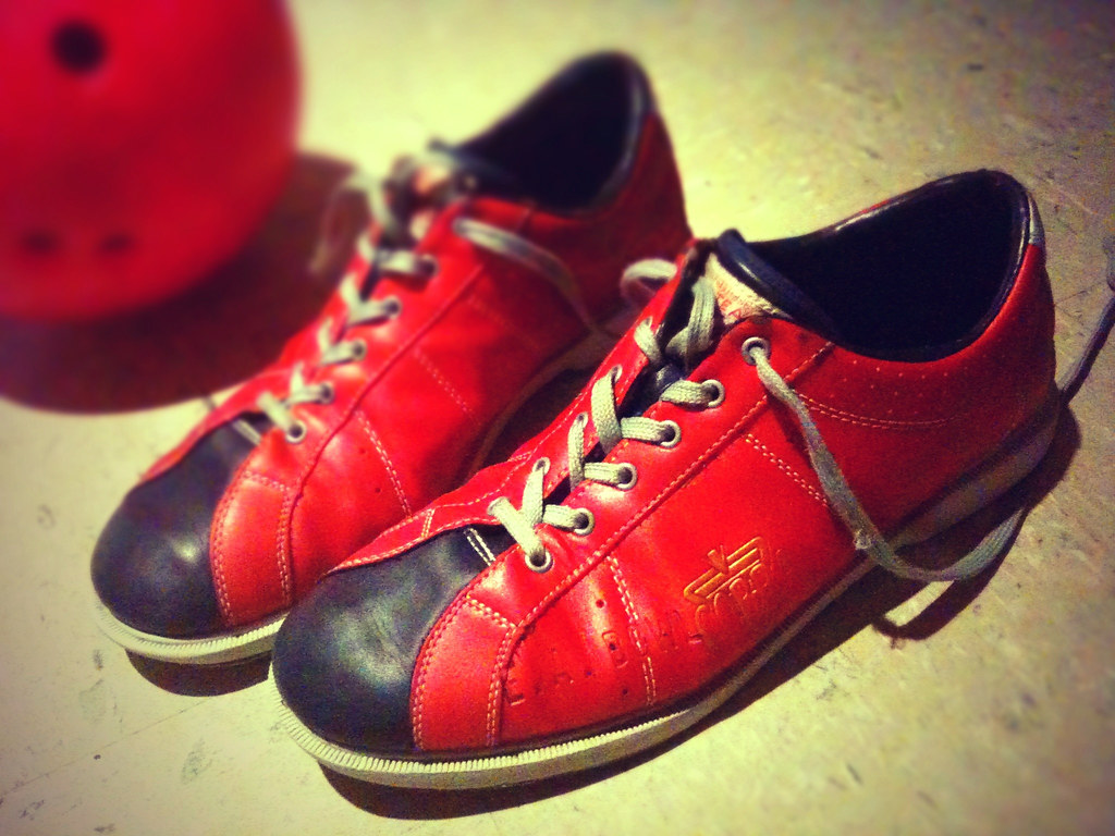 Bowling Shoes & Ball