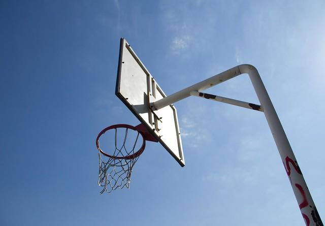 Basketball hoop flickr photo sharing - Basketball hoop garbage can ...