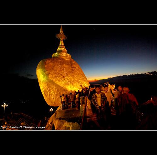 sunset rock golden burma myanmar birmanie kyaikhtiyo mygearandme mygearandmepremium