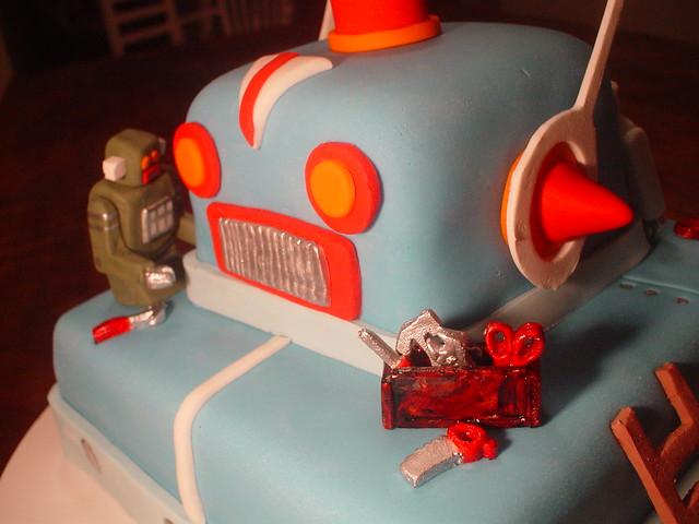 Bolo Robô Vintage! ( Vintage Robot Cake!)
