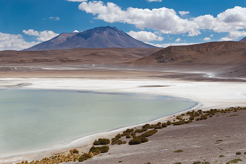volcano and laguna  - Bolivian altiplano