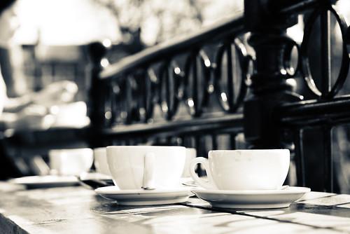 park white cup monochrome outside spring cafe victoriapark walk empty cups pavillion selectivefocus regentcanal regentcanalwalk