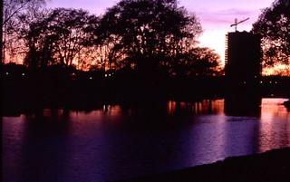 Marie Curtis Park at dusk