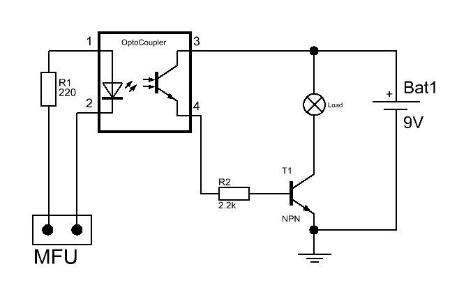 lcd goes wrong when load connected to relay