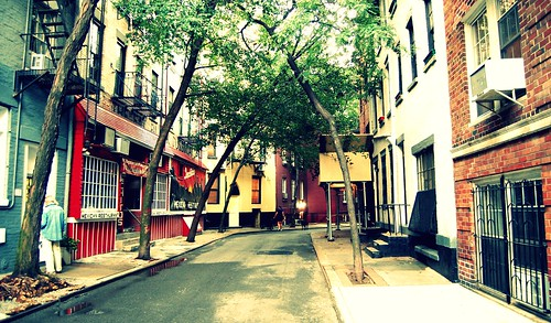 colorful west village alley