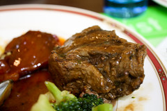 gravy, meal, fried food, meat, salisbury steak, produce, food, dish, meat chop, cuisine,