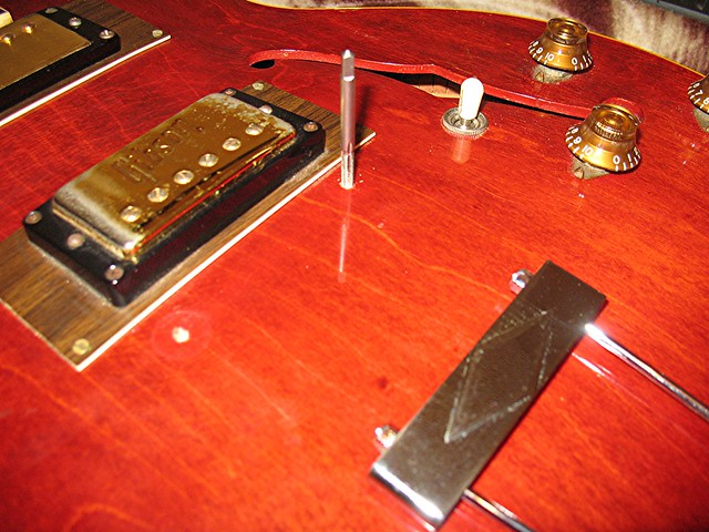 Photo:Prep For New Bridge on ES-335 By Roadside Guitars
