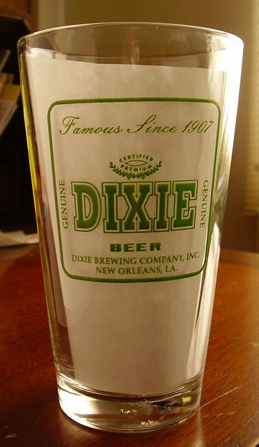 Dixie Beer Glass http://www.flickr.com/photos/45521998@N00/3218257317/