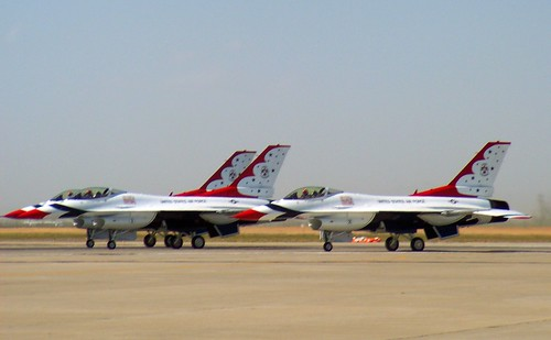 Lockheed Martin F-16C Fighting Falcon Thunderbirds #1,2,&3