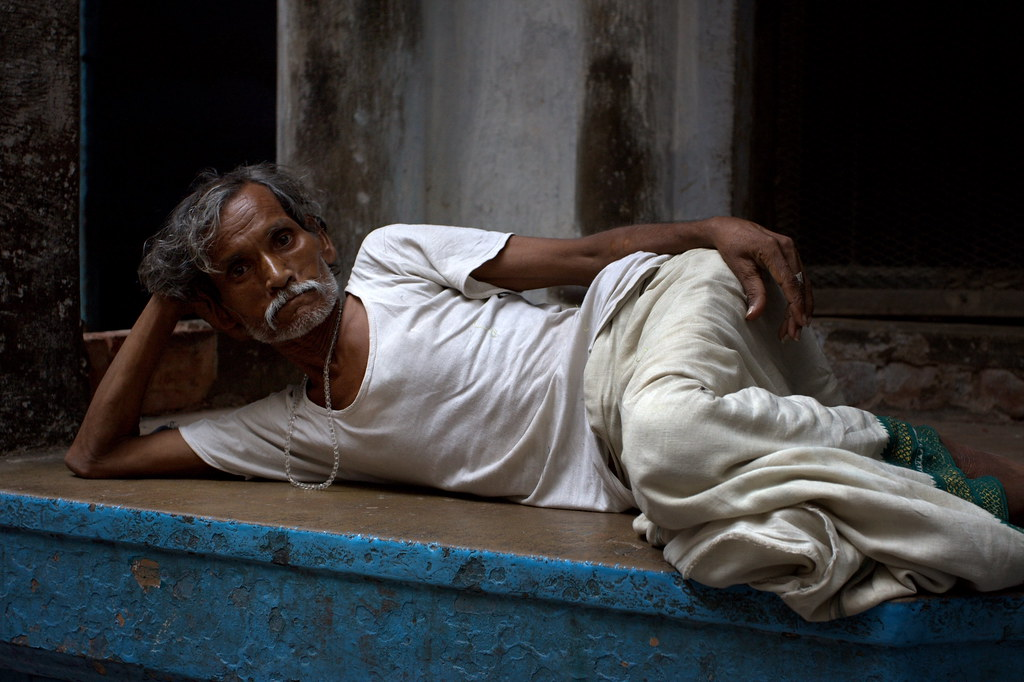 Resting In A Varanasi Back Alley