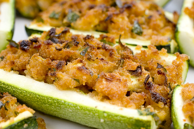 Stuffed Zucchini Boat 2 | Flickr - Photo Sharing!