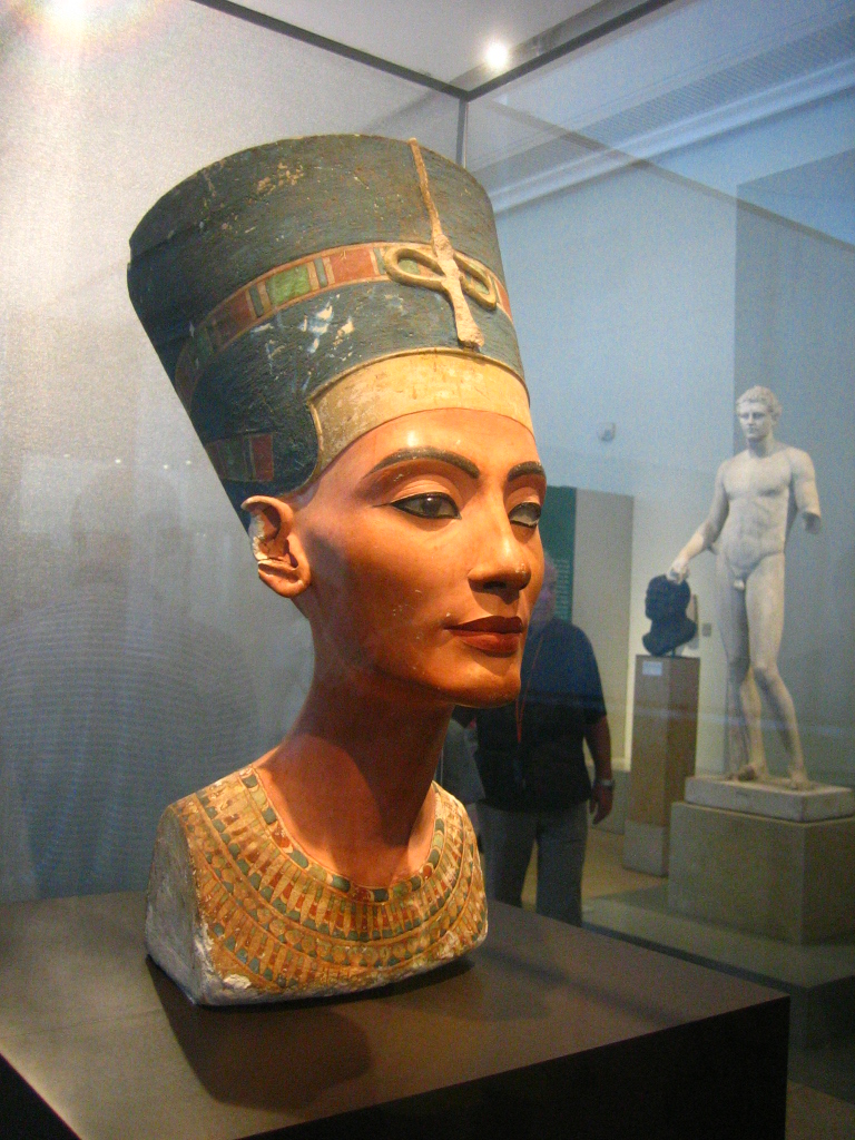 "the nefertiti bust Last weekend, i visited the egyptian queen nefertiti this weekend on a trip to berlin's neues museum ""new"" being a museum built in the mid-nineteenth century, bombed during world war ii, and finally re-opened in 2009 after reconstruction following german reunification the bust of nefertiti."