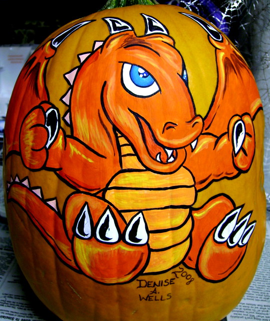 Dragon Pumpkin Painting By Denise A Wells I Love To